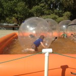 Pool Fun with bubble suits
