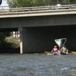 Fun sailing in the river