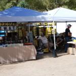 Venders selling goods
